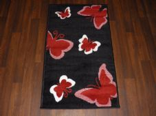 Modern Aprox 4x2 60cmx110cm Novelty Butterfly New Rug Woven Backed Nice Mats